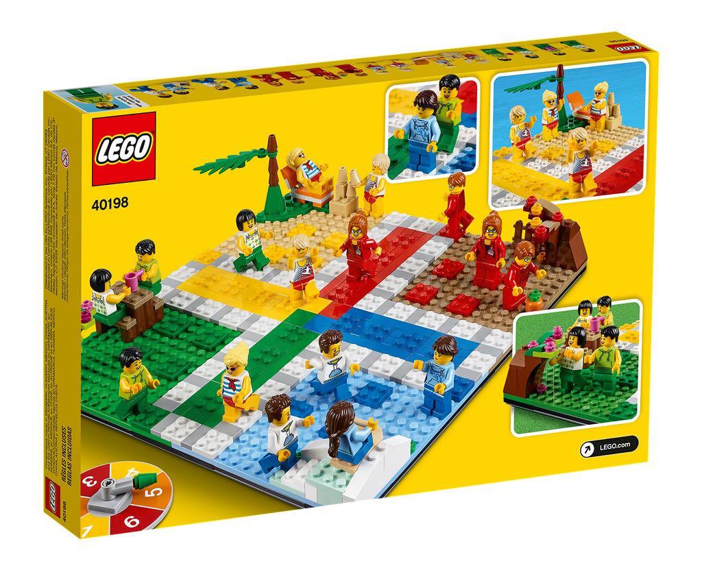 Ludo Game LEGO (40198) back image (back cover, second image)