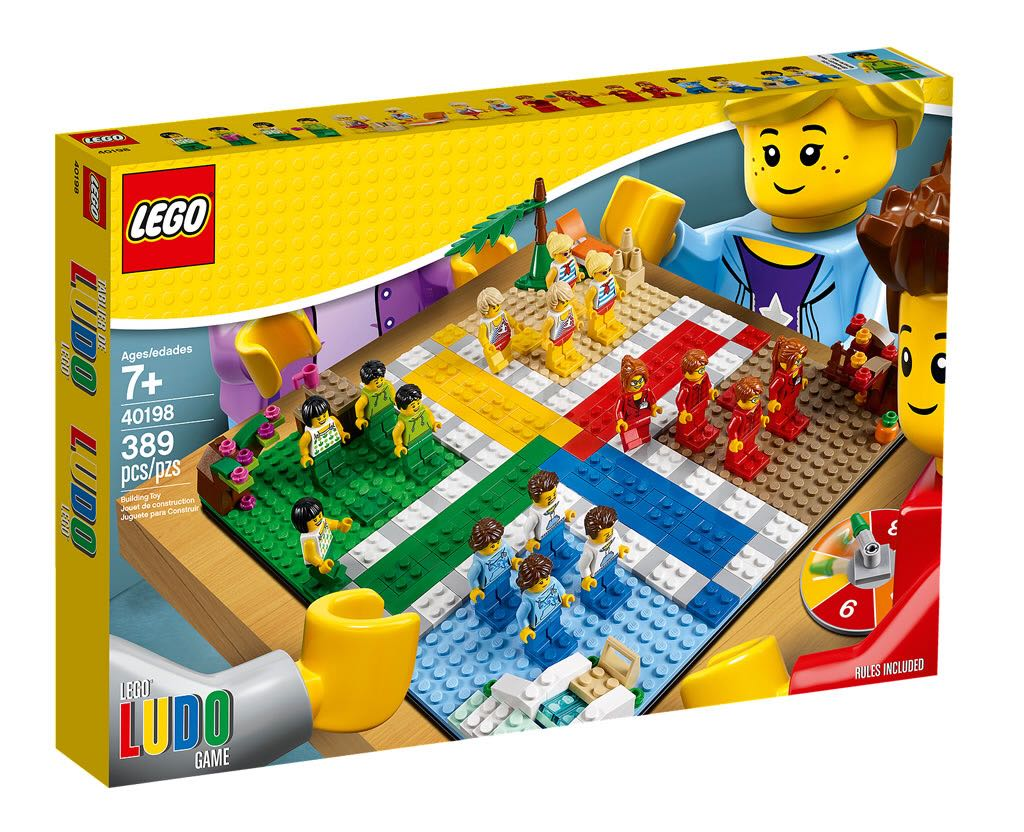 Ludo Game LEGO (40198) front image (front cover)