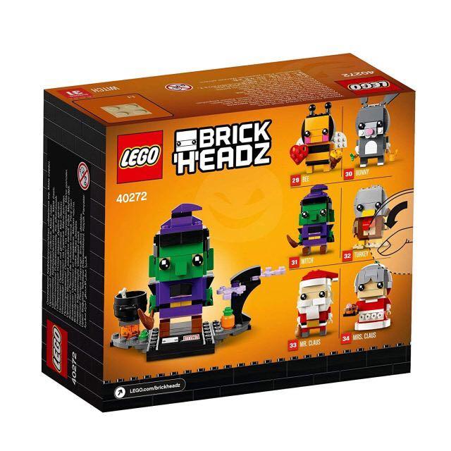 Brick Headz Witch LEGO - Brick Headz (40272) back image (back cover, second image)