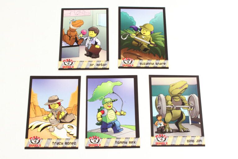 D for Dino Funky Figs Cards LEGO - Series 2 (N/A) front image (front cover)