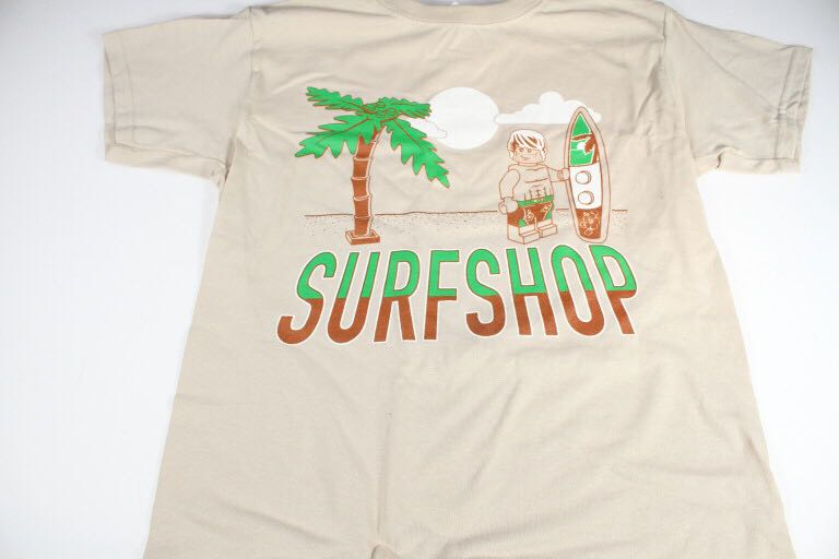 """Surf Shop"" T-Shirt LEGO - Apparel (N/A) front image (front cover)"