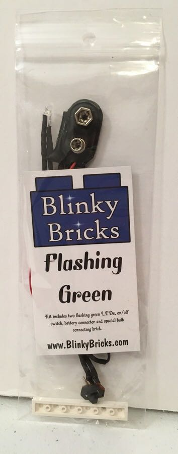 Blinky Bricks Flashing Green LED Lights LEGO - Brick Builders Club™ Exclusive (N/A) front image (front cover)