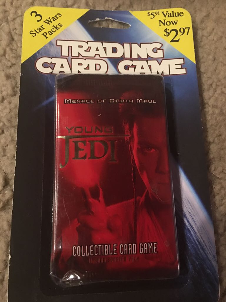 Young Jedi Trading Cade 3 Booster Pack LEGO (79) front image (front cover)