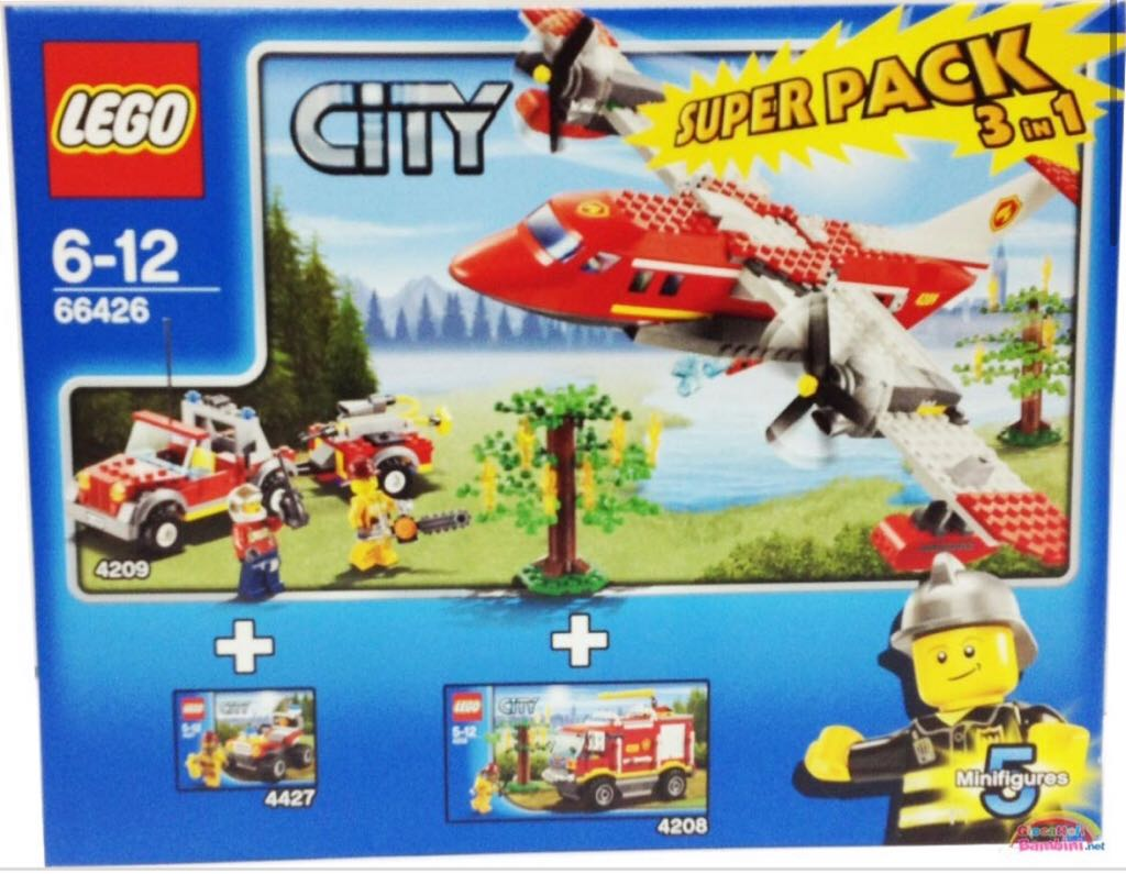 City Fire Super Pack LEGO - City (66426) front image (front cover)