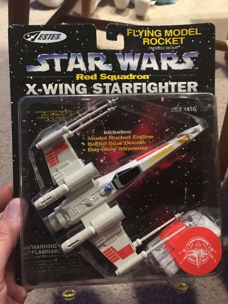 Xwing Flying Model Rocket LEGO (116) front image (front cover)