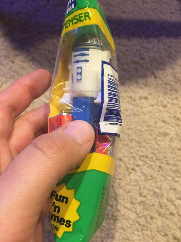R2 D2 Pez Green LEGO (143) front image (front cover)