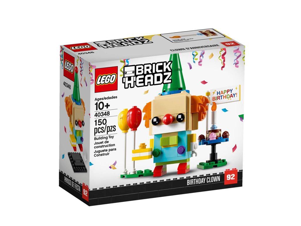 LEGO Brickheadz - Birthday Clown LEGO - Brick Headz (40348) front image (front cover)
