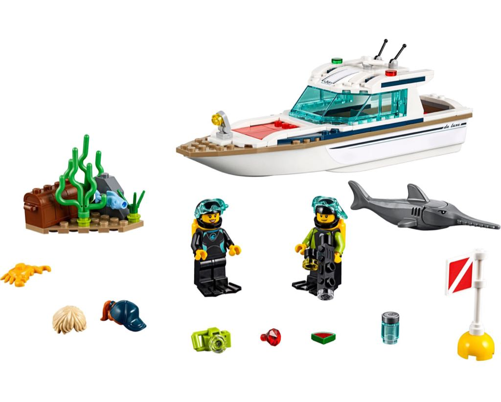 60221 Diving Yacht LEGO - City (60221) back image (back cover, second image)