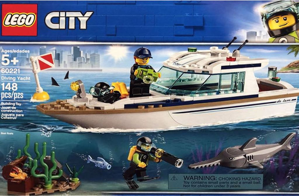 60221 Diving Yacht LEGO - City (60221) front image (front cover)