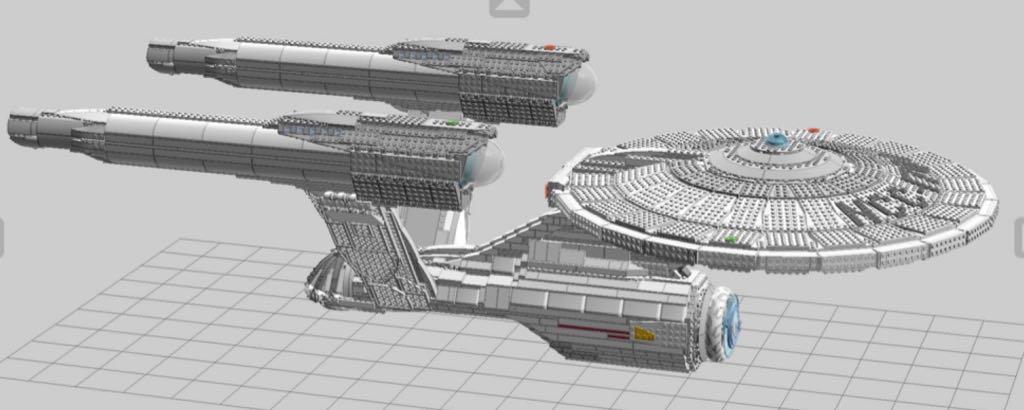 Starship Enterprise LEGO (0) front image (front cover)