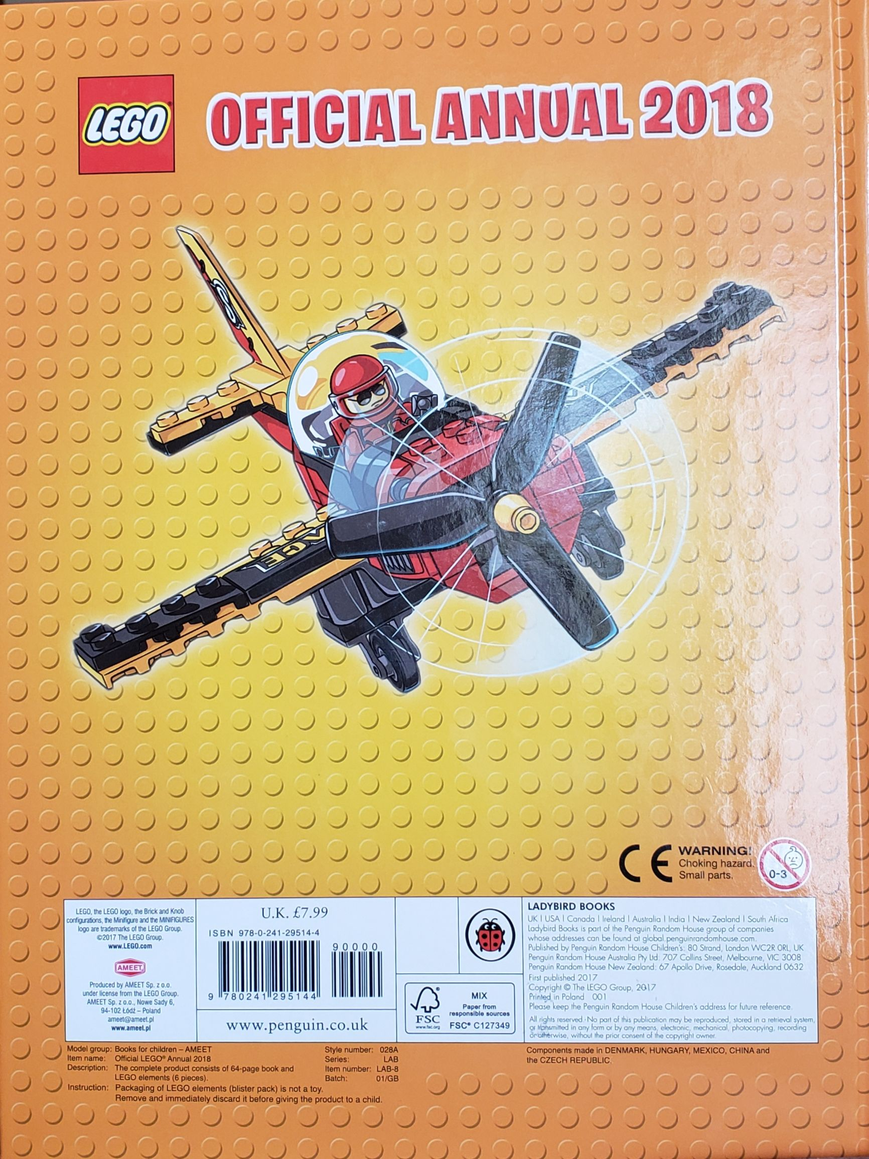 Official Annual 2018 LEGO - Books back image (back cover, second image)