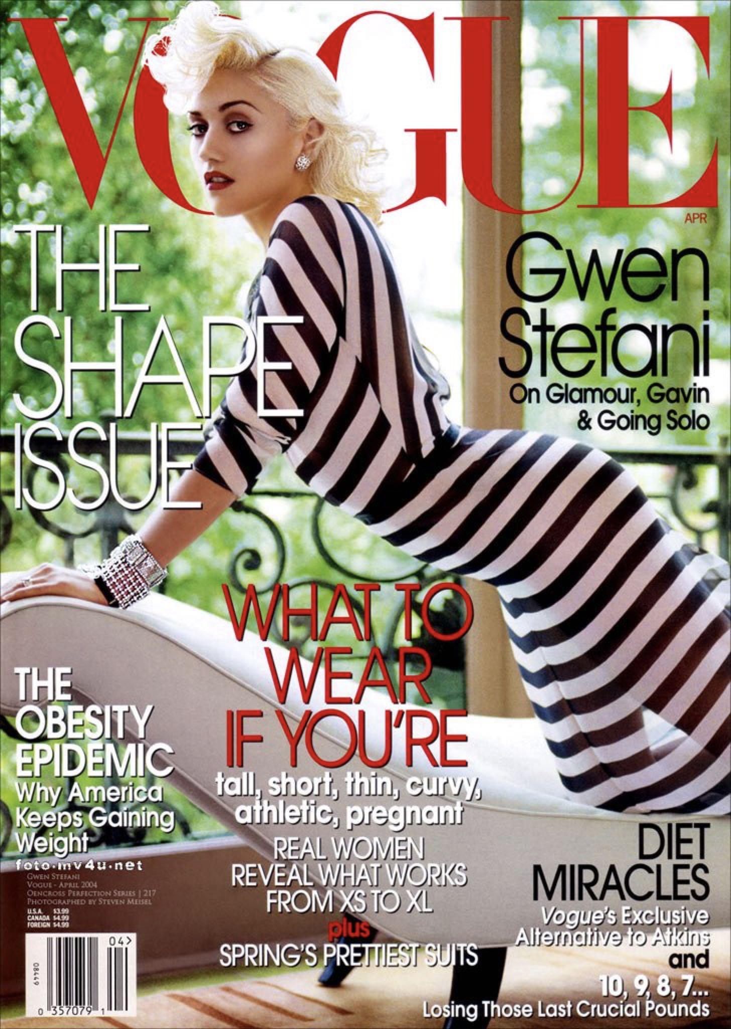 Vogue Magazine - 2004 (April) front image (front cover)