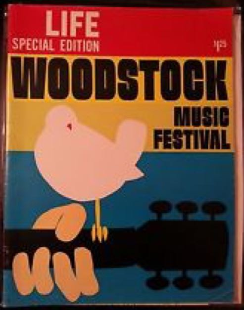Life: Woodstock Music Festival Magazine - 1969 front image (front cover)