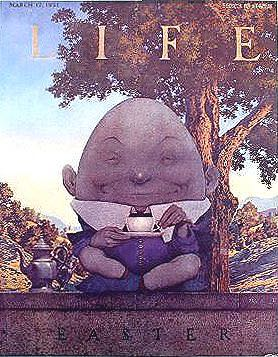 Life: Humpty Dumpty Easter Magazine - 1921 (March) front image (front cover)