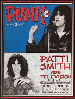 Punk: Patti Smith Television Magazine - 1976 (March) front image (front cover)