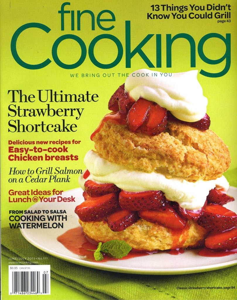 Fine Cooking Magazine - 2011 (June) front image (front cover)