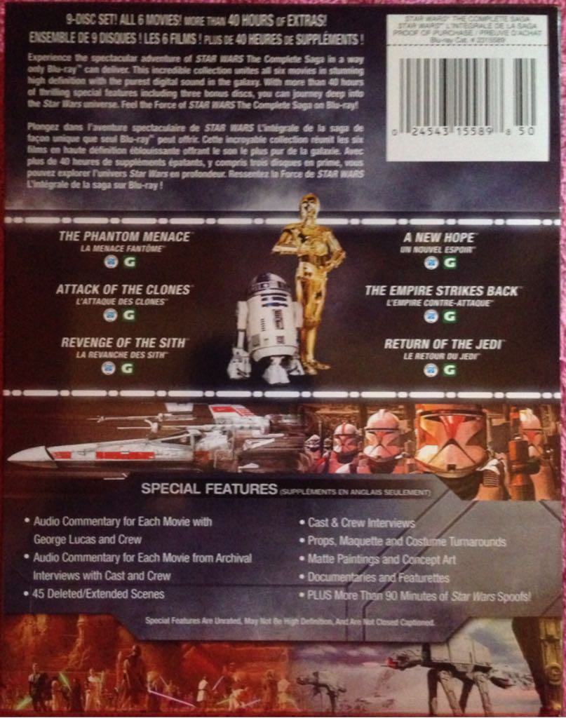 star wars the complete saga movie bluray usa from