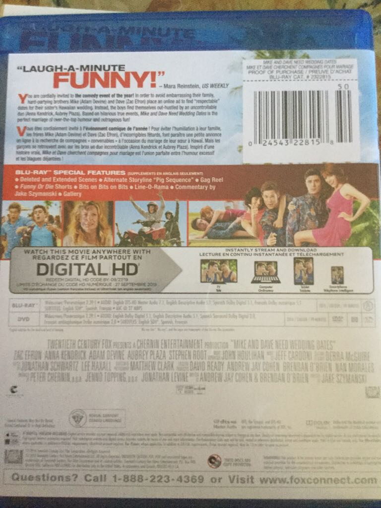 Mike And Dave Need Wedding Dates Online.Mike And Dave Need Wedding Dates Movie Blu Ray Dvd Digital