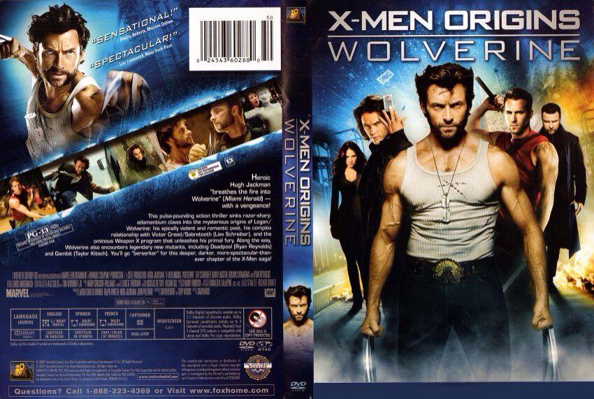 X Men Dvd Cover: X-Men Origins Wolverine Movie