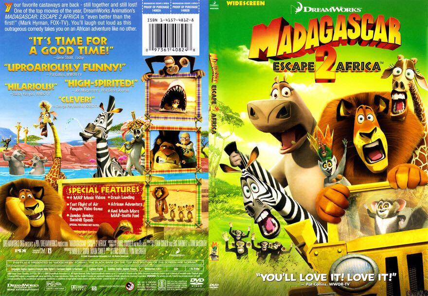 Madagascar 2: Escape 2 Africa Movie - DVD (USA) - from Sort