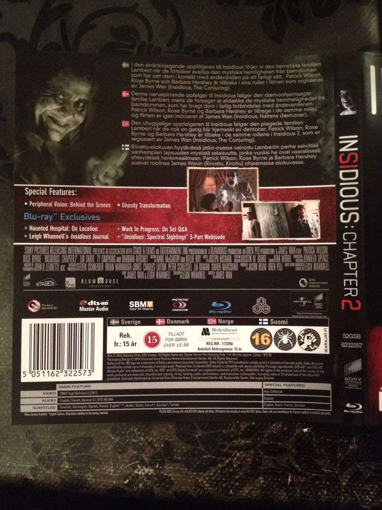 Insidious: Chapter 2 Movie - Blu-ray - from Sort It Apps