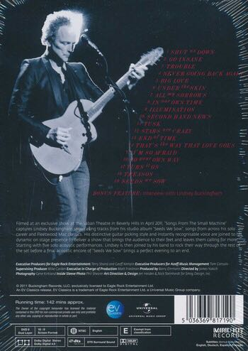 Buckingham, Lindsey : Songs From The Small Machine Movie - Blu-ray