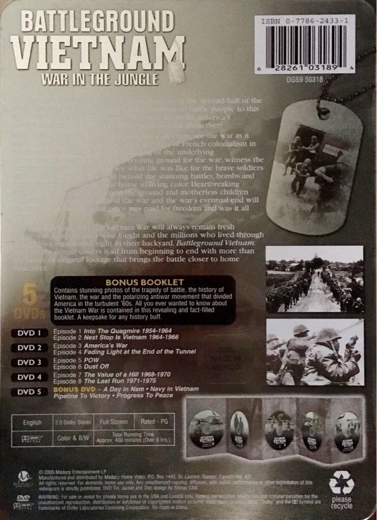 Battleground Vietnam: War In The Jungle Movie - DVD (Singapore