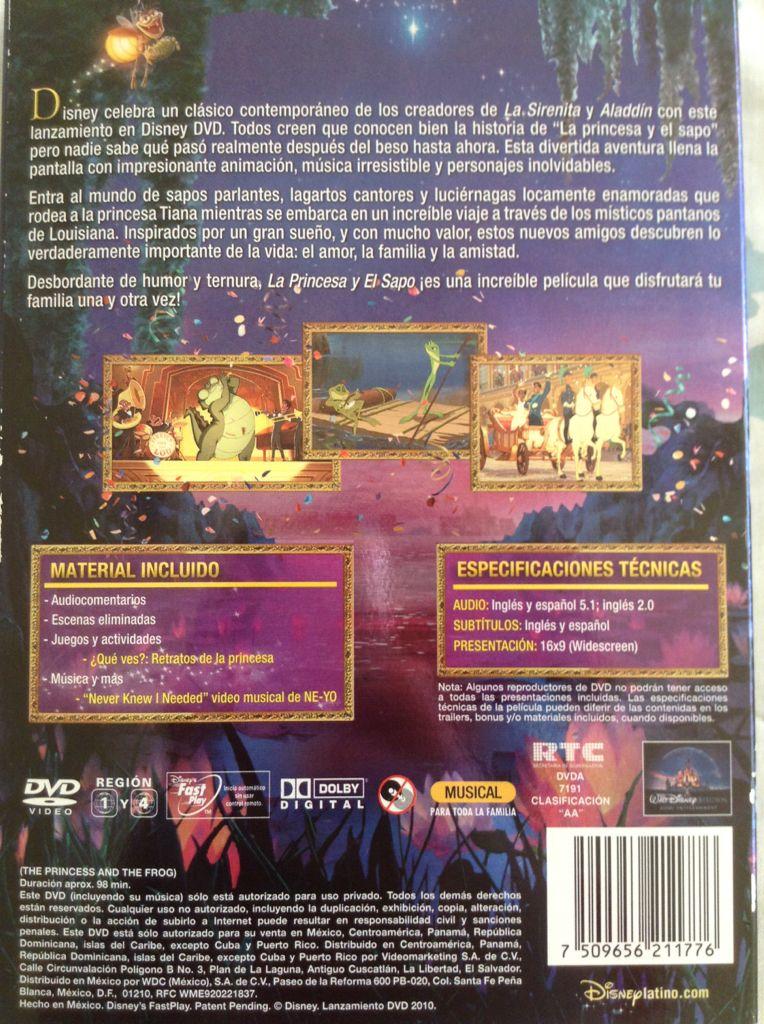 Princesa Y El Sapo La Movie  DVD Mexico  from Sort It Apps