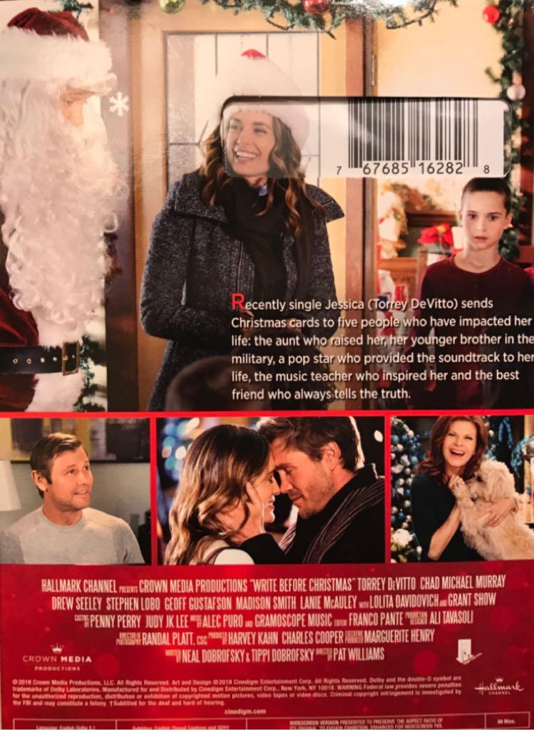 Write Before Christmas Movie - DVD