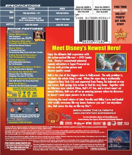 Bolt Movie - Blu-ray/DVD/Digital Copy (USA) - from Sort It Apps