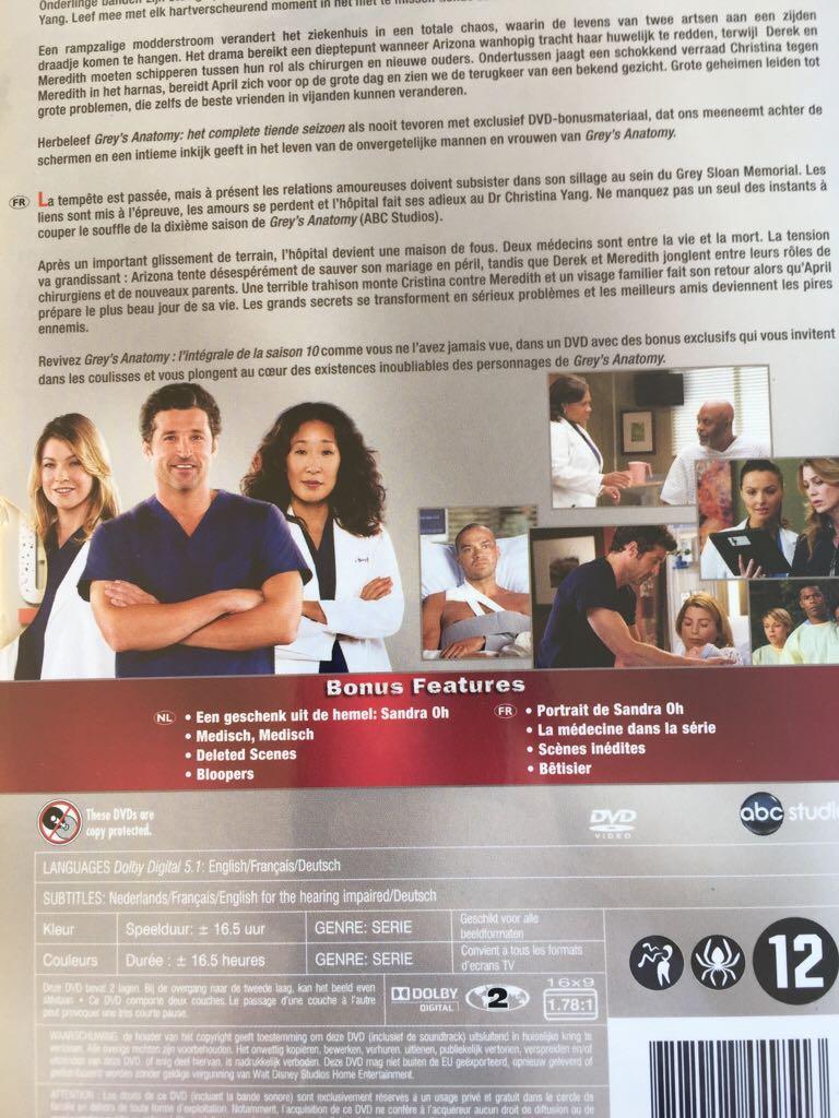 Greys Anatomy Seizoen 10 Movie Dvd From Sort It Apps