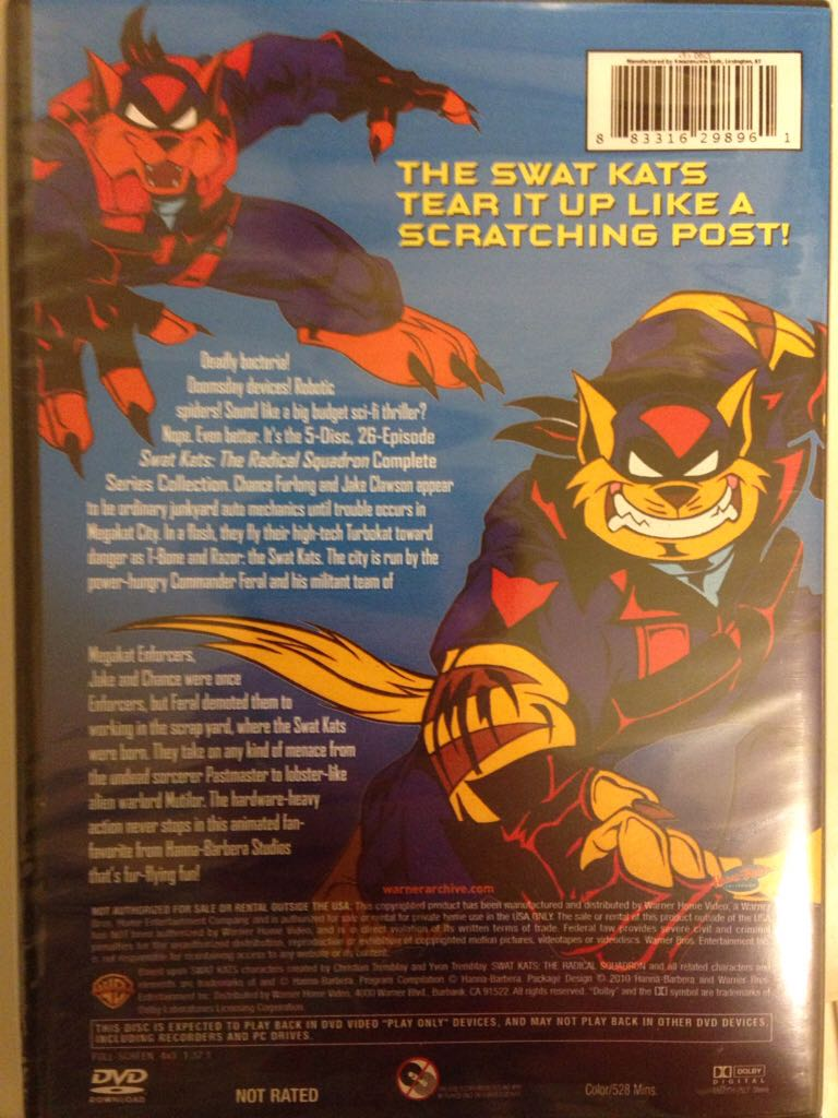 swat kats the radical squadron movie vhs usa from