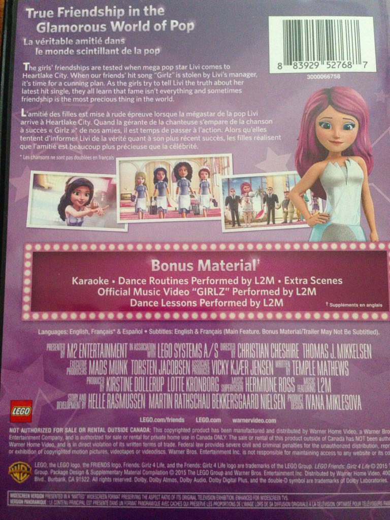 Lego Friends Girlz 4 Life Movie Dvd From Sort It Apps