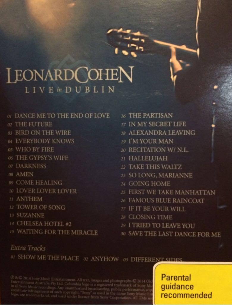 Leonard cohen live in dublin 2014   Leonard Cohen: Live in