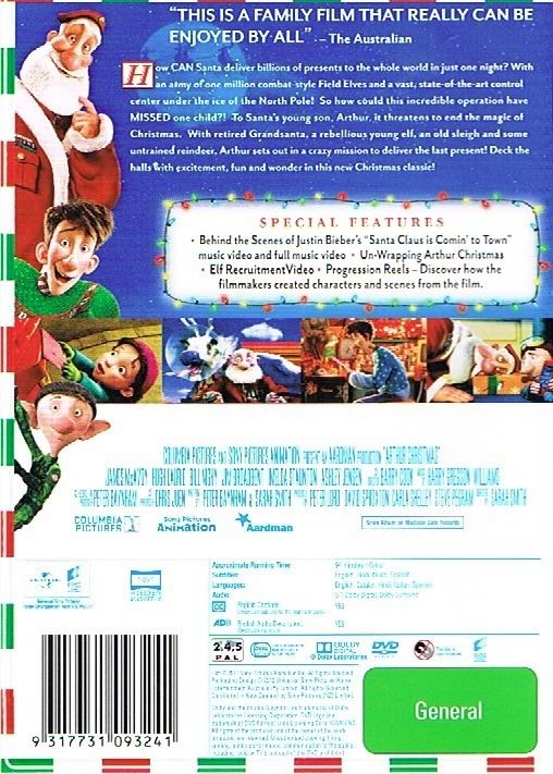 Arthur Christmas Characters.Arthur Christmas Movie Dvd Digital Copy Australia From