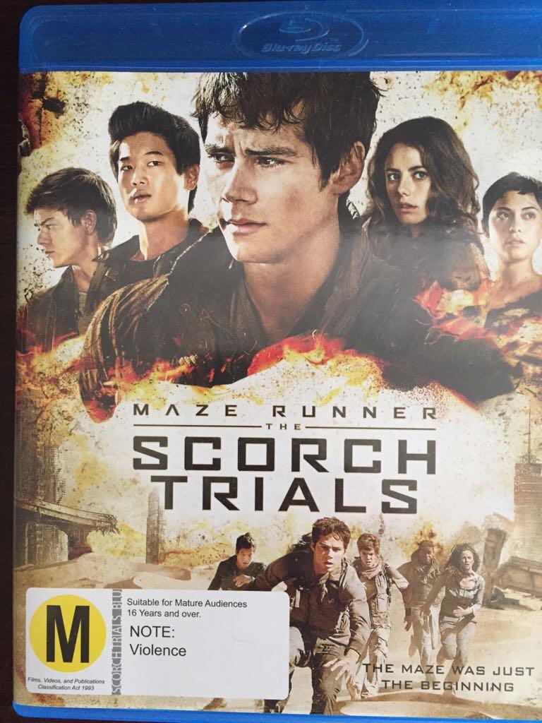 Maze Runner 2 Scorch Trials Movie - Blu-ray - from Sort It Apps
