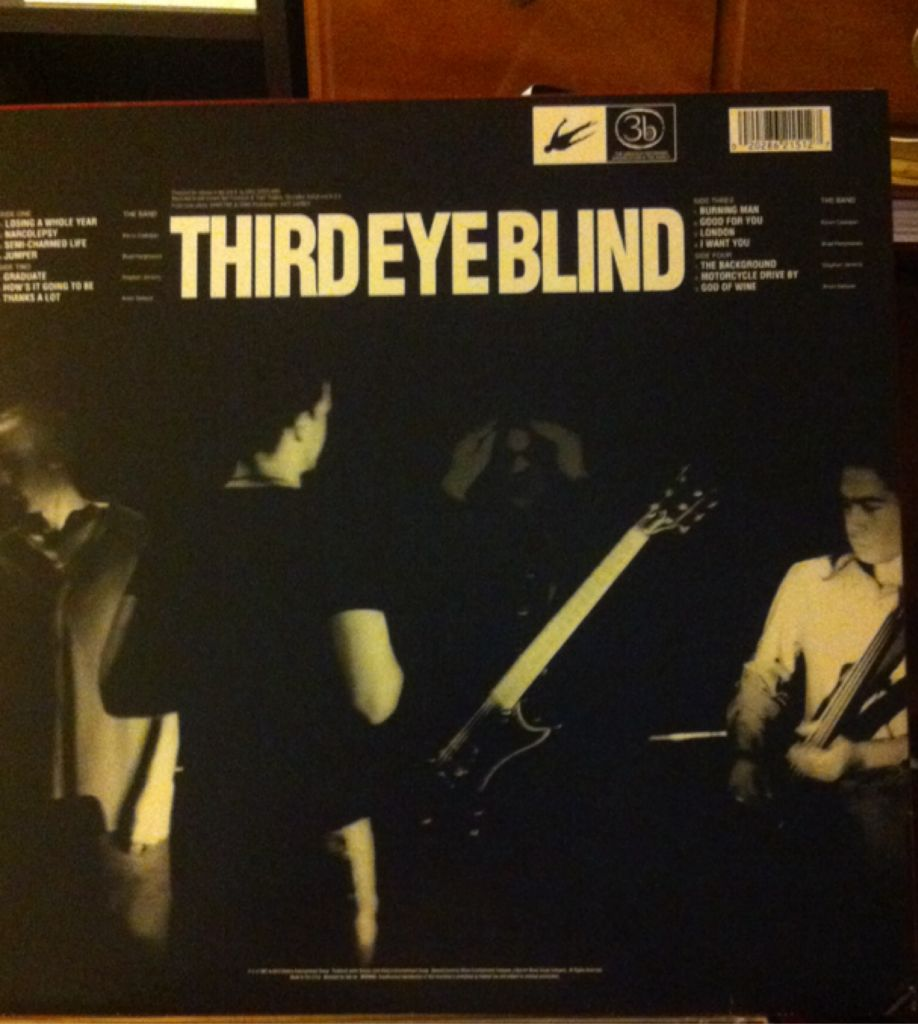 Third Eye Blind Music - Third Eye Blind back image (back cover, second image)