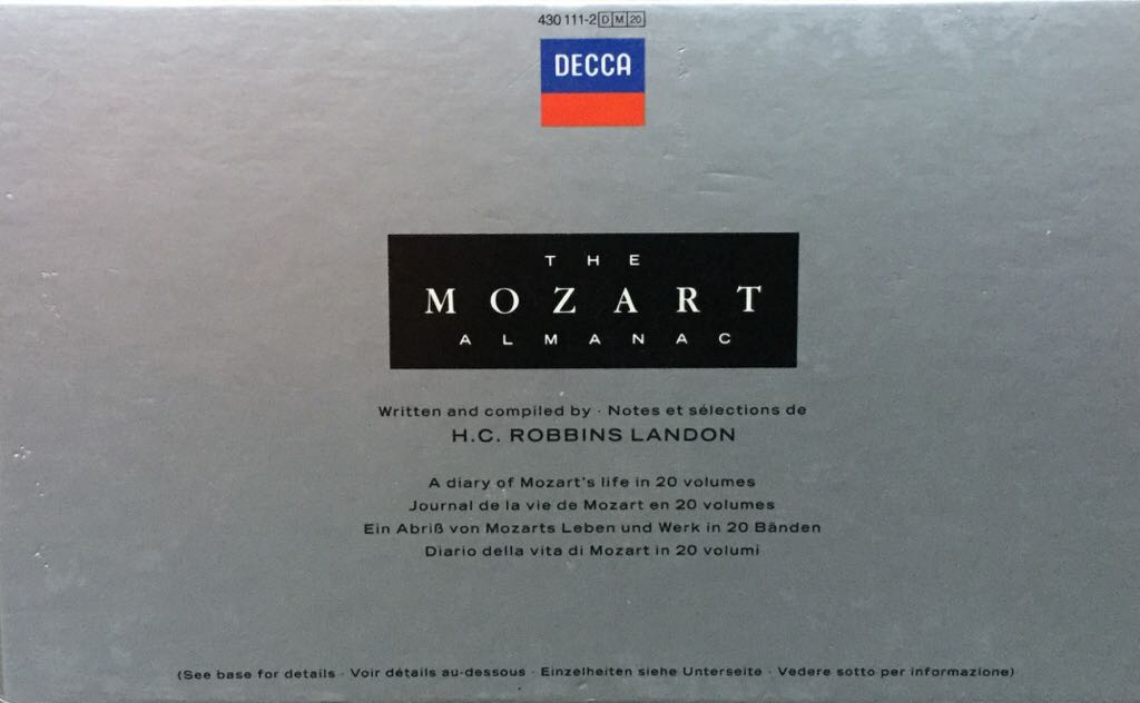 The Mozart Almanac Music - Various Orchestras (CD) - from