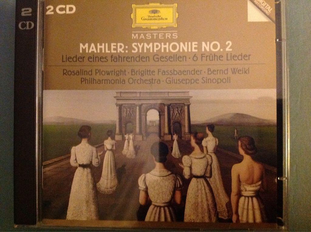 Mahler: Symphonie No. 2- Lieder Eines Fahrenden Gesellen Music - Giuseppe Sinopoli (CD) front image (front cover)