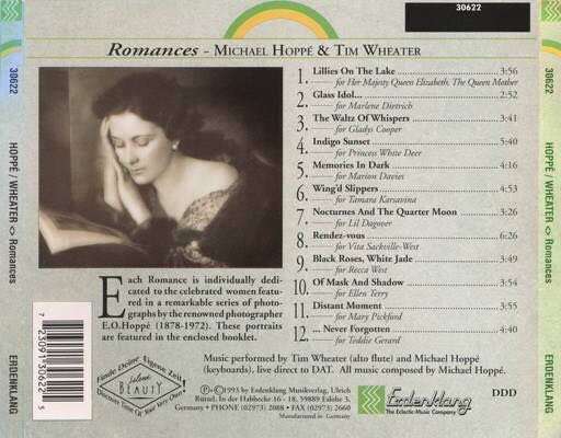 The Yearning: Romances for Alto Flute Music - Michael Hoppé and Tim Wheater (CD) back image (back cover, second image)