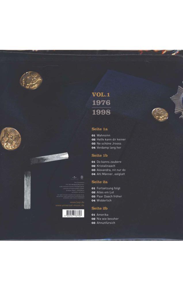 Niedeckens BAP - die beliebtesten Lieder Music - BAP (CD) back image (back cover, second image)
