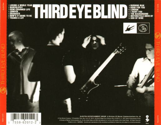 Third Eye Blind [Self-Titled] Music - Third Eye Blind (CD) back image (back cover, second image)