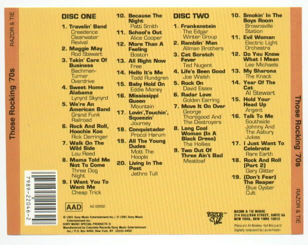 Those Rocking '70s Music - Various (CD) - from Sort It Apps