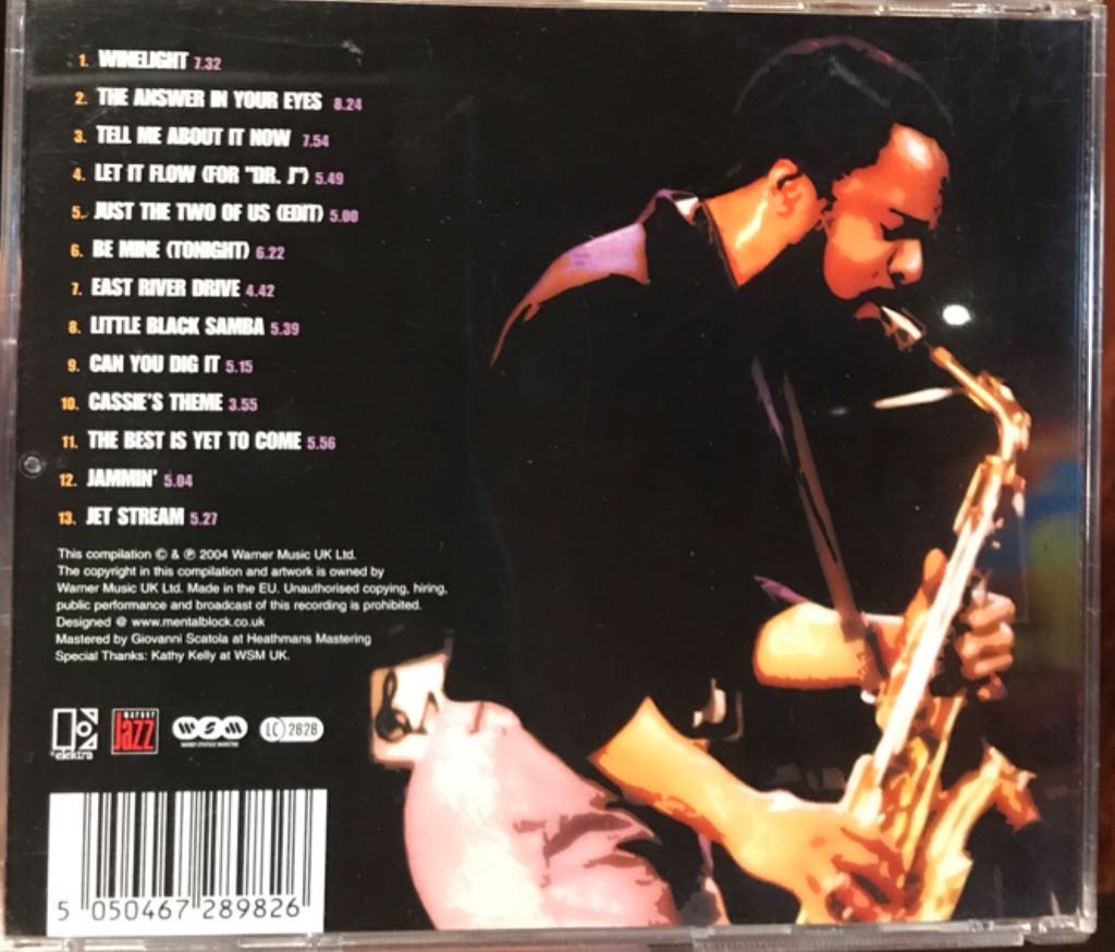 The Electra Years Music - Grover Washington Jr (CD) back image (back cover, second image)