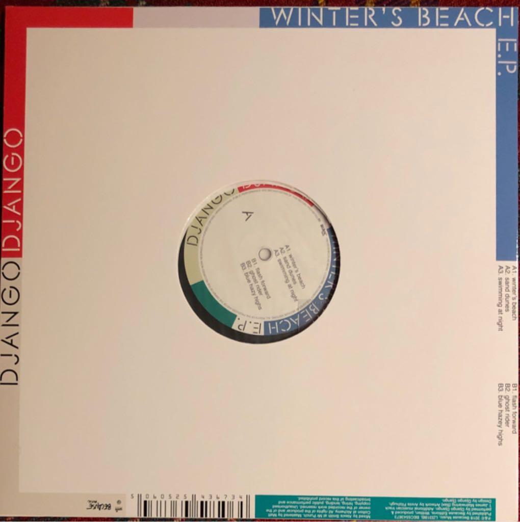 "Winter's Beach Music - Django Django (12"") back image (back cover, second image)"