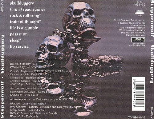 Skullduggery (Austria) Music - Steppenwolf (CD) back image (back cover, second image)