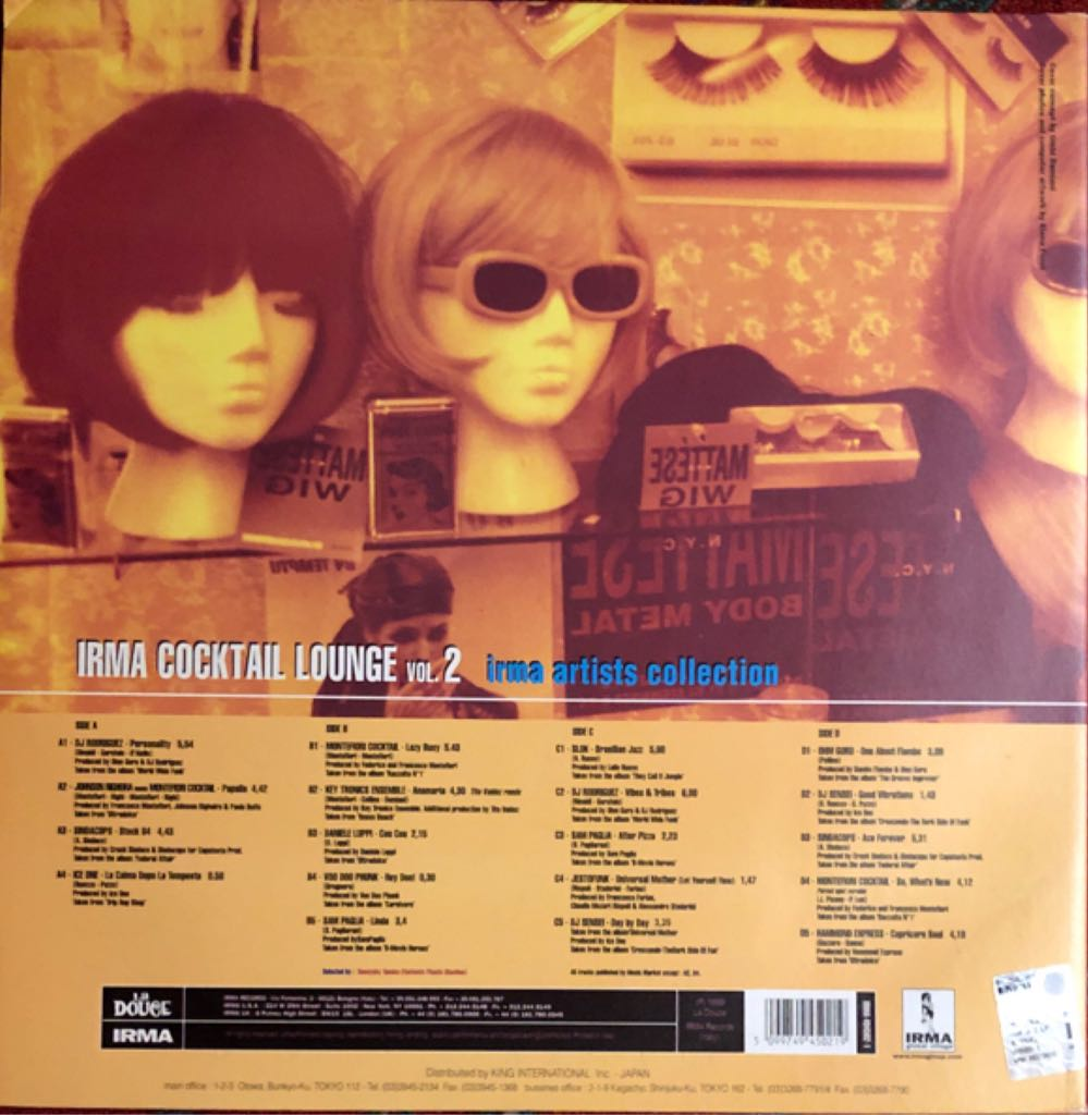 """Irma Cocktail Lounge Vol. 2 Music - Various Artists (12"""") back image (back cover, second image)"""