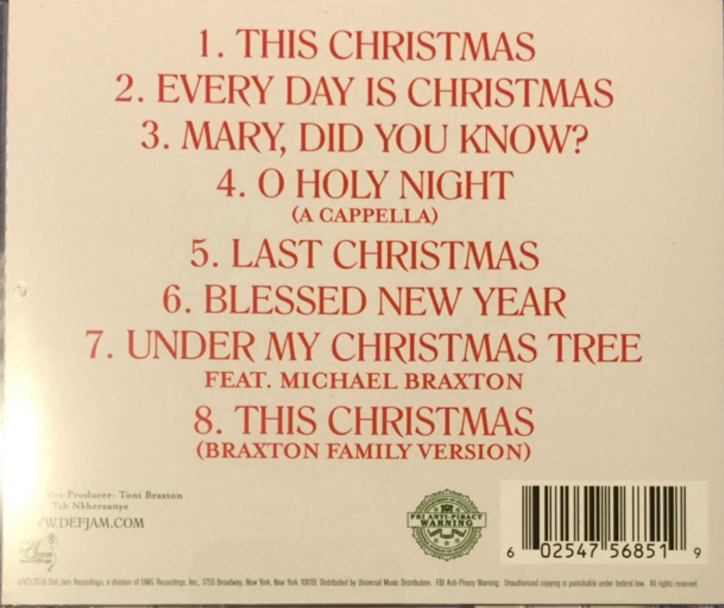 Braxton Family Christmas Music - Braxtons, The (CD) - from Sort It ...