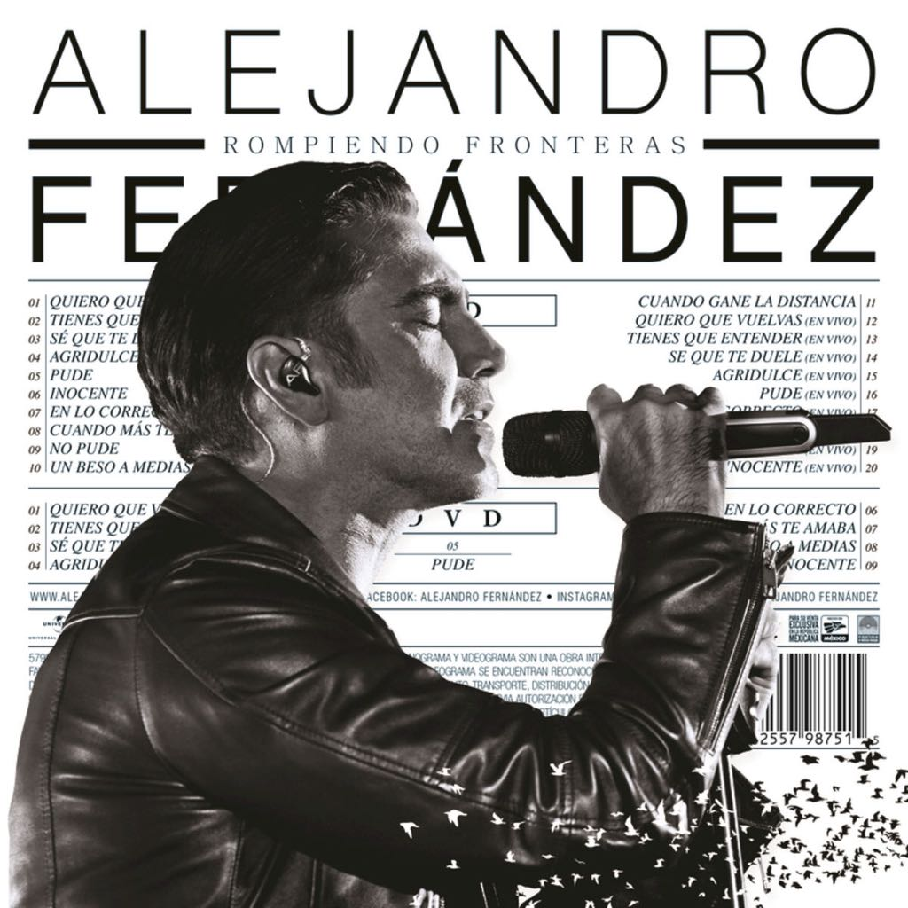 Rompiendo Fronteras Music - Alejandro Fernández (CD/DVD) front image (front cover)