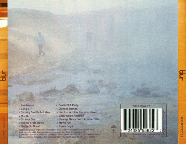 Blur - Blur Music - Blur (CD) back image (back cover, second image)